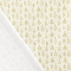 Tissu Popeline Sapins de Noël Dorés 100% Coton Bio GOTS - Ecru