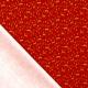 Tissu Popeline Cerfs Dorés 100% Coton Bio GOTS - Rouge