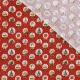 Tissu Coton Cretonne Boule à neige - Rouge