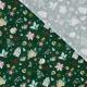 Tissu Coton Cretonne Noël Féerique - Vert