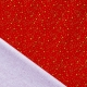 Tissu Popeline Étoiles en fête 100% Coton Bio GOTS - Rouge
