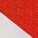Tissu Popeline Fleurs Dorées 100% Coton Bio GOTS - Rouge