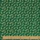 Tissu Popeline Houx Dorés 100% Coton Bio GOTS - Vert