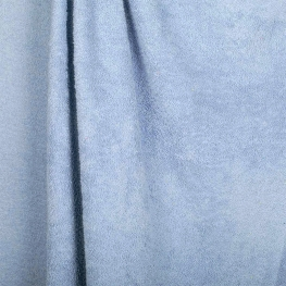 Tissu éponge uni Oeko-Tex - Bleu poudré