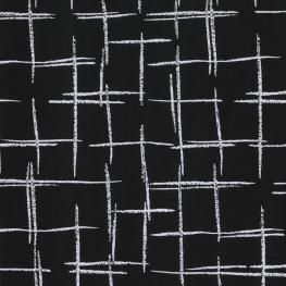 Tissu micro satin Rayé - Noir