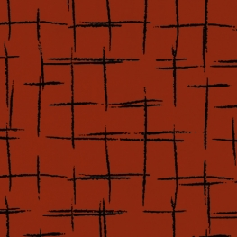 Tissu Quadrillage - Rouge brique