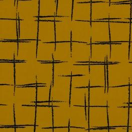 Tissu Quadrillage - Moutarde