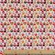 Tissu coton cretonne hiboux hivernaux- Blanc cassé & multicolore