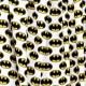 Tissu Popeline Logo Batman DC COMICS - Blanc