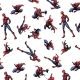 Tissu Popeline Spiderman Marvel - Blanc