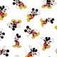 Tissu Popeline Mickey DISNEY - Blanc