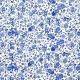 Tissu Popeline Champs Fleuri - Bleu