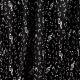 Tissu Satin de Coton Notes de Musique - Noir