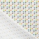 Tissu Satin de Coton Ballon de Sport - Blanc