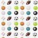 Tissu Satin de Coton Ballons de Sport - Blanc