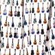 Tissu Satin de Coton Guitares - Blanc