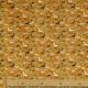 Tissu Coton Cretonne Petits Dinosaures - Moutarde