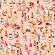 Tissu Coton Enduit Maquillage - Corail