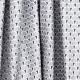Tissu coton cretonne éventails argentés - Argent