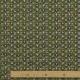 Tissu Coton Cretonne Masques Africains - Vert kaki