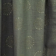 Tissu coton double gaze Pissenlits - Vert kaki & Doré
