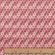 Tissu coton plume de paon - Rouge & Gris