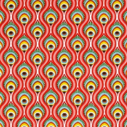 Tissu Coton Cretonne Oeil de Paon - Rose