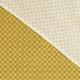 Tissu Coton Cretonne Oeil de Paon - Jaune