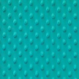 Tissu minky à pois - Turquoise