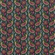 Tissu Popeline Motif Cachemire 2 - Vert & Rose
