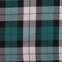 Tissu écossais tartan - Vert canard & gris