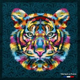 Carré Jacquard Tigre - Multicolore