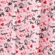 Tissu Coton Cretonne Paris Romantique - Rose