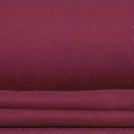 Tissu polaire uni - Rouge cabernet