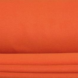 Tissu polaire uni - Orange rouille
