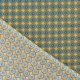 Tissu Coton Cretonne Motif Wax - Jaune & Bleu