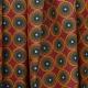 Tissu Coton Cretonne Motif Wax - Rouge & Jaune