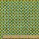 Tissu Coton Cretonne Motif Wax - Bleu & Vert