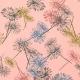 Tissu Jersey Maille Marguerites - Rose