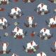 Tissu Jersey Éléphants - Bleu