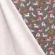Tissu Jersey Maille Petit Chevaux - Gris