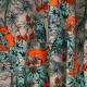 Tissu Jersey Renards Éclatants - Gris & Orange