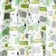 Tissu Coton Cretonne Crocodile & Rhinocéros - Blanc