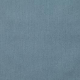 Tissu Popeline Bio Uni - Bleu orage
