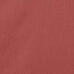 Tissu Popeline Bio Uni - Rouge Terracotta