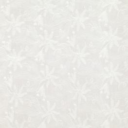 Tissu Broderie Anglaise Floral - Ecru