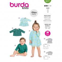 Robe, tee-shirt, Burda 9277