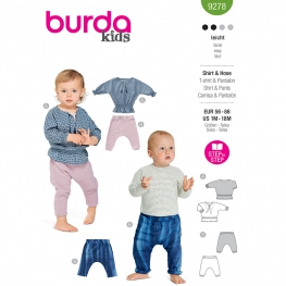 T-shirt + pantalon, Burda 9278