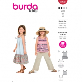 Robe, top, Burda 9280