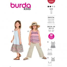 Robe, top, Burda 9280